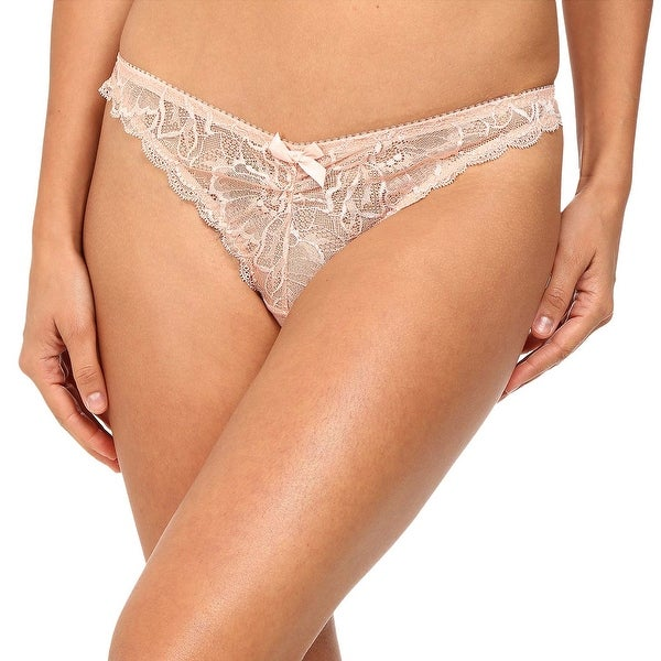 8206df071d L  x27 Agent By Agent Provocateur Womens Leola Lace Mini Brief Fawn Pink  Medium