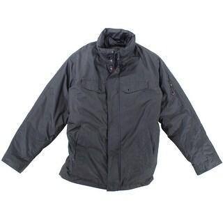 IZOD NEW Black Mens Size Large L Waterproof Mock Neck Puffer Jacket