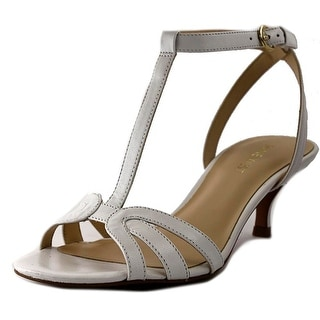 Nine West Odarlin Women Open Toe Leather White Sandals