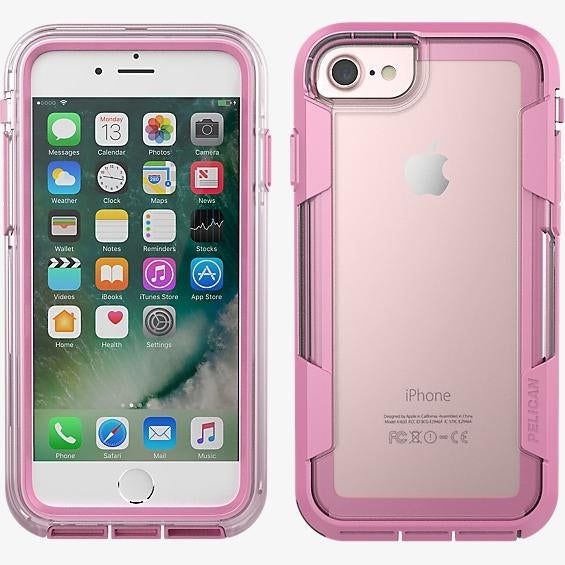 Pelican Voyager Case for iPhone 7 - Clear/Pink