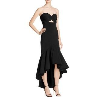 Jarlo Womens Evening Dress Sateen Ruffled