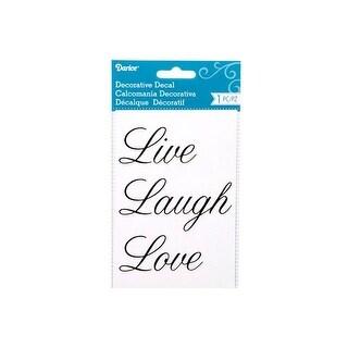 Darice Word Decal 4x6 Live Love Laugh
