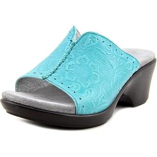Alegria Sasha Women  Open Toe Leather Green Wedge Sandal