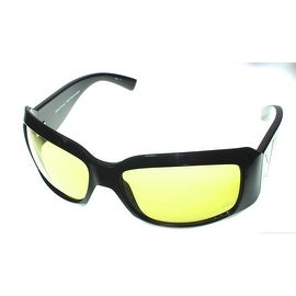 Callaway Golf Sunglass PAR RX 9 Black Plastic Rectangle Wrap, Yellow Golf Lens