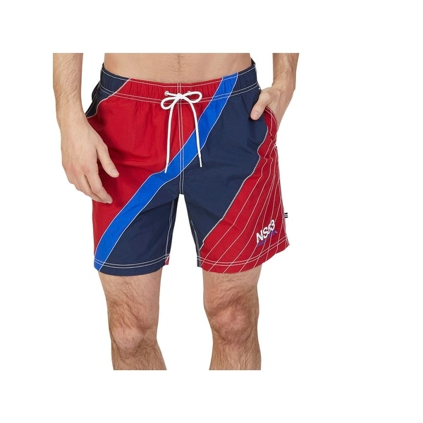 a6d89f3618 Shop Nautica Mens Quick Dry Diagonal Swim Bottom Separates - L - Free  Shipping On Orders Over $45 - - 22485721