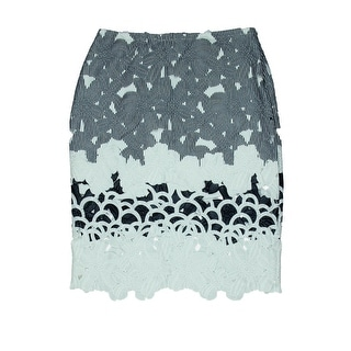 JOA Womens Pencil Skirt Lace Cut-Out