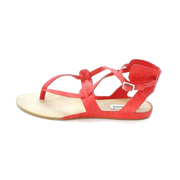 Steve Madden Women's BRITANY Thong Sandals, CORAL SNK, Size 9.0