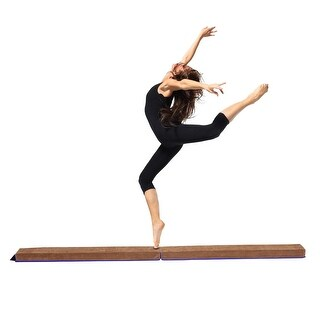 Costway 8' Sectional Gymnastics Floor Balance Beam Skill Performance Training Folding