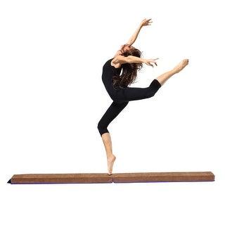 Costway 8' Sectional Gymnastics Floor Balance Beam Skill Performance Training Folding - as pic