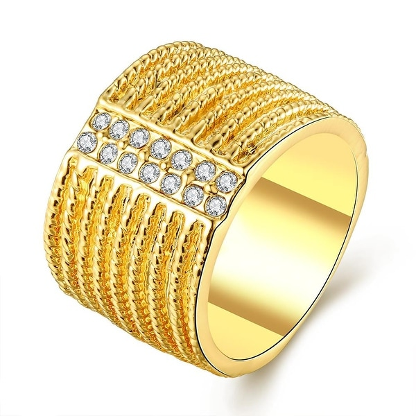 Gold Plated Classical New York Band Ring