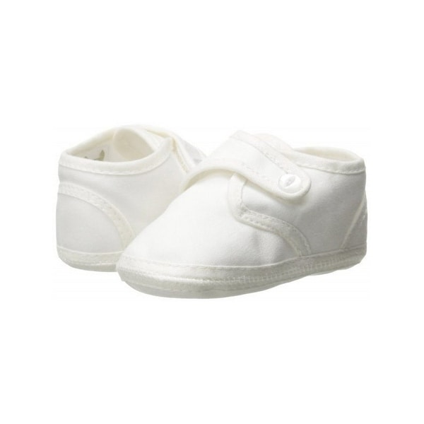 17960b6997 Shop Baby Boys White Cotton Satin Pearl Button Christening Shoes ...
