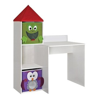 Altra Furniture Kids White Wooden Workstation With 2 Bins