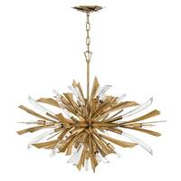 "Fredrick Ramond FR40906 Vida 13-Light 36"" Wide Sputnik Chandelier - Burnished Gold - n/a"