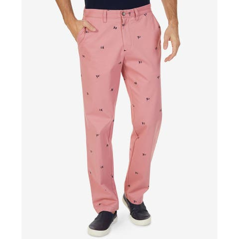 Nautica Mens Pants Pink Size 36x30 Classic Critter Deck Khakis Stretch