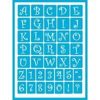 "Americana Gloss Enamel Stencils 8""X6""-Curly Alphabet"