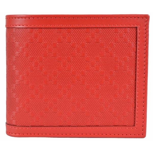 Gucci Men's 365471 Tabasco Red Leather Diamante Bifold Wallet