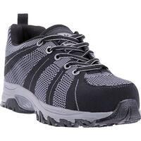 McRae Industrial Men's Non Metallic Composite Toe MR83002 Black/Grey Woven Fabric