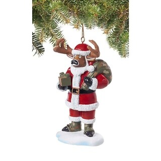 Legendary Whitetails Santa Buck Holiday Hunting Ornament - Red