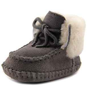 Ugg Australia Sparrow Infant Round Toe Suede Gray Snow Boot