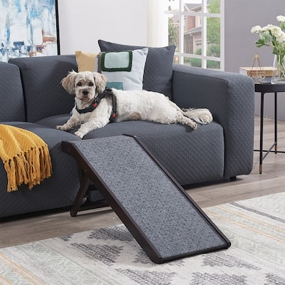 Unipaws Foldable Wooden Pet Dog Ramp with Adjustable Height