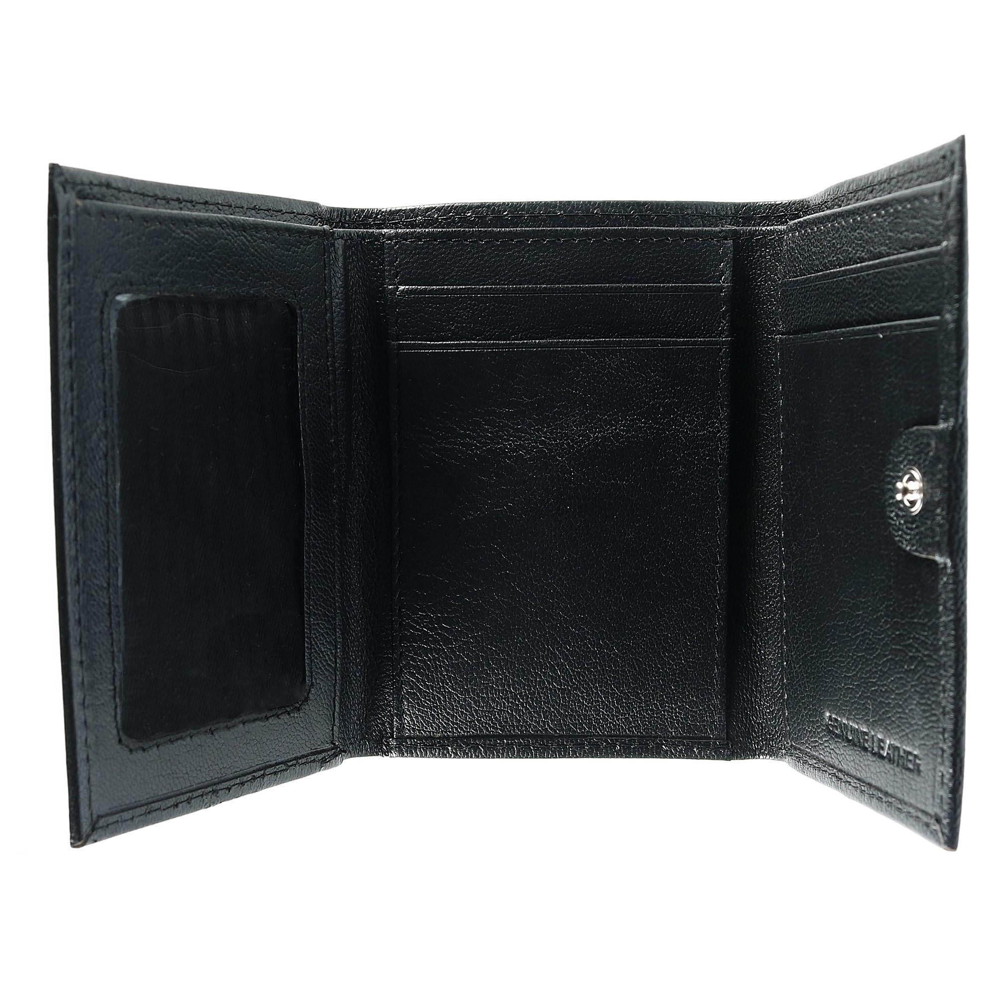 Sophos Mens Leather Trifold Credit Card Holder with Snap Closure