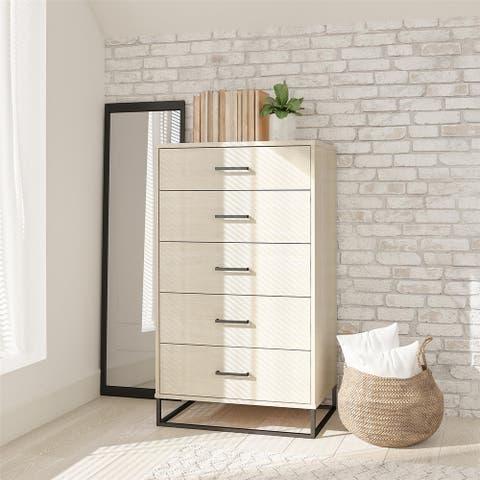 Novogratz Kelly 5 Drawer Dresser
