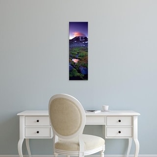 Easy Art Prints Panoramic Images's 'Clouds over a snowcapped mountain, Mt Rainier, Washington State, USA' Canvas Art