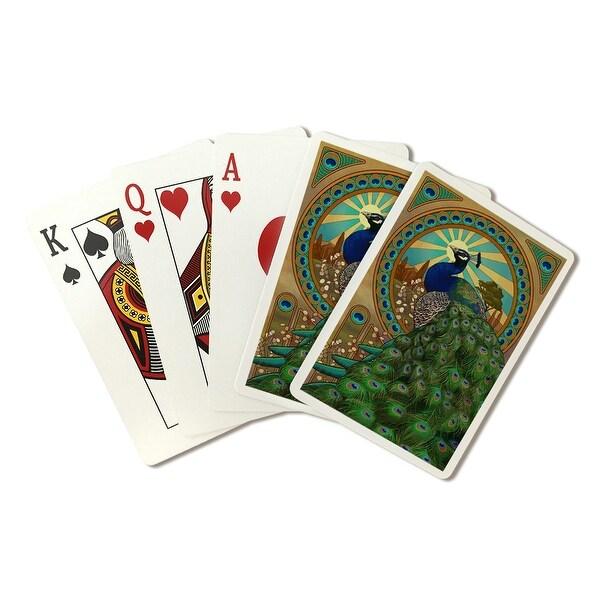 Peacock - Art Nouveau - LP Artwork (Poker Playing Cards Deck)