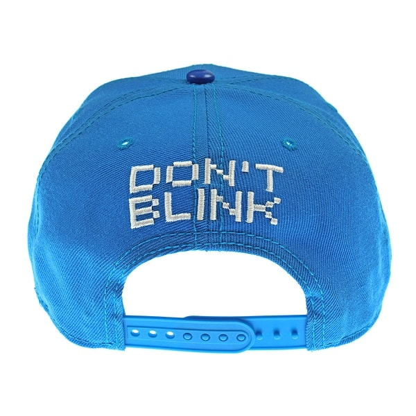 Shop Sega Genesis Sonic The Hedgehog Hat Blue 8 Bit Pixel Don T Blink Snapback Overstock 22800128