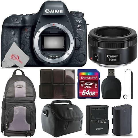 Canon EOS 6D Mark II Digital SLR Camera + Essential Kit