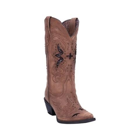 "Laredo Western Boots Womens 13"" Shaft Lucretia Snip Toe Tan"