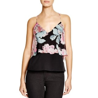 Elizabeth and James Womens Blouse Strappy Silk