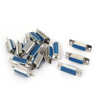 Unique Bargains DB15 15-Pin 2-Row Female Plug Computer VGA Cable Connector Adapter 15 Pcs