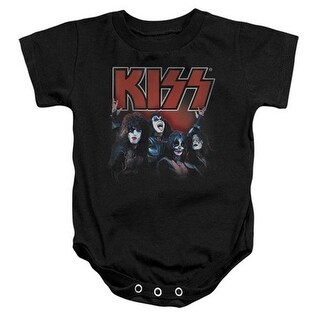 Trevco Kiss-Kings Infant Snapsuit, Black - Large 18 Months