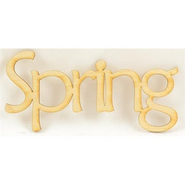 """1 Pc, 6.5"""" X 3"""" Print & Unfinished Welded Word Spring For Home & Events Decor"""