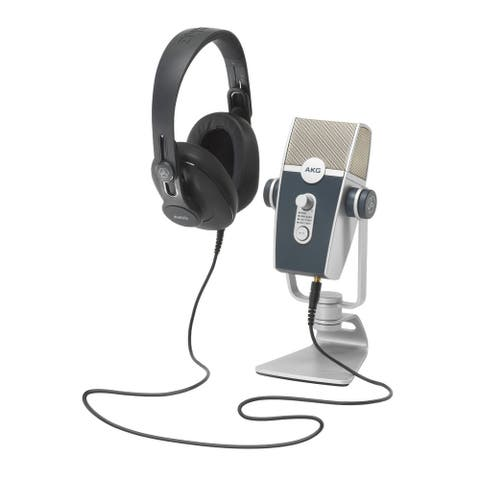 AKG Podcaster Essentials with AKG Lyra USB Microphone and Headphones