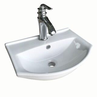 Renovator's Supply Small Space Saving White Wall Mount Bathroom Sink