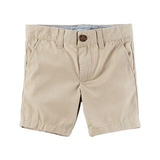 Carter's Little Boys' Flat-Front Canvas Shorts, 3-Toddler