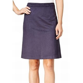 Tommy Hilfiger NEW Navy Blue Women's Size 2 Faux-Suede A-Line Skirt
