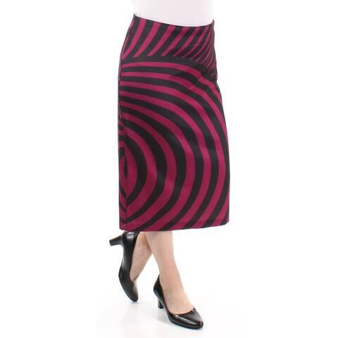 ECI Womens Purple Wear to Work Skirt Size: S