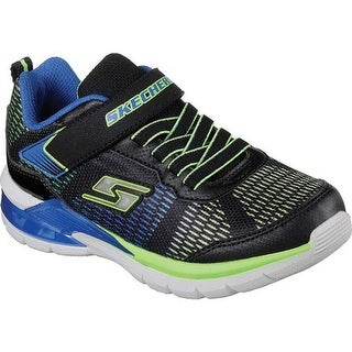 Skechers Boys' S Lights Erupters II Lava Waves Sneaker Black/Blue/Lime