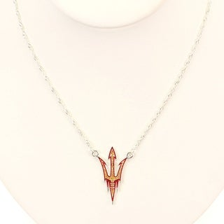 Arizona State University Crystal Logo Necklace