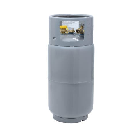 Forklift Propane Cylinder 33.5 lbs with Gauge and Fill Valve Steel