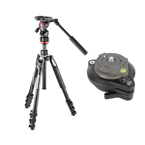"""Manfrotto Professional Video Tripod and 438 Compact Leveling Head - 15.75"""""""