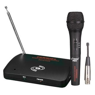 Pyle Audio T51497B PYLE-PRO PDWM100 - Dual Function Wireless/Wired Microphone System