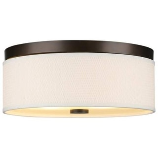 "Forecast Lighting F615020 2 Light 14.88"" Wide Flush Mount Ceiling Fixture from the Cassandra Collection - sorrel bronze"