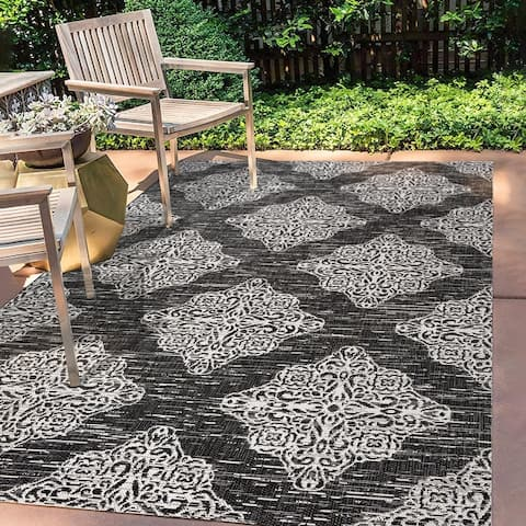 JONATHAN Y Tuscany Ornate Medallions Indoor/Outdoor Area Rug