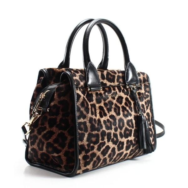 Shop Michael Kors NEW Black Leopard Haircalf Geneva Large