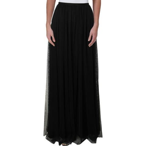 Adrianna Papell Womens Maxi Skirt Mesh Long - 6