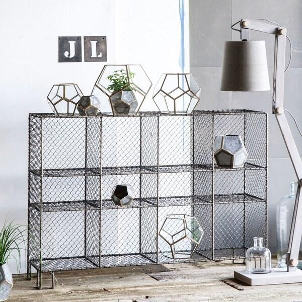 "48"" Silver Industrial Style Horizontal Botana Shelf - N/A"